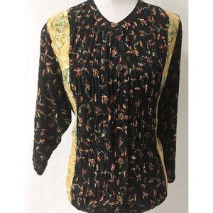 Black & Tan Vintage Top Size 12